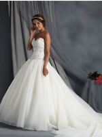 Alfred Angelo wedding dress gown style 2569 Ivory/metallic size 4 $1350