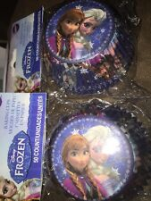 Disney Frozen 50 Baking Cups Kids New Elsa and Annas faces color blue