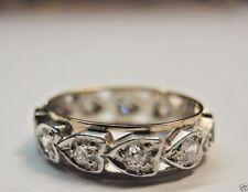 Antique Deco Diamond Eternity Wedding Band Ring 9KT Stg Size-5.75 UK-L D-.71CT