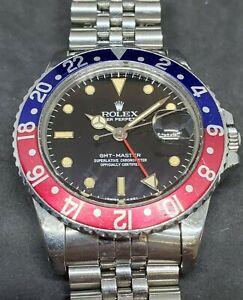 """1984 Rolex GMT-Master Ref.16750 No """"Date"""" Spider Dial 8.5 Million S/N"""