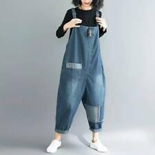 Women Oversized Suspender Pants Jumpsuit Jeans Bib Overalls Baggy Romper Casual