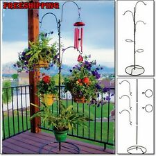 Plant Hanging Basket Tree Planter Stand Holder Flower Indoor Outdoor Backyard
