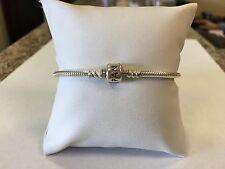Authentic Pandora Charm Bracelet ALE 925 Sterling Silver Crown Clasp