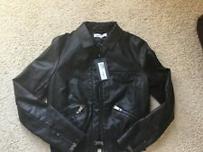 Marks and Spencer BNWT Femmes Aspect cuir Bomber Veste Manteau £ 59 Taille 8. M & S