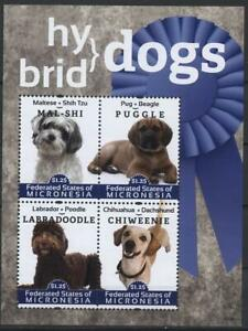 [MIC] MICRONESIA 2012 DOGS, DOMESTIC PETS. SHEET 4 STAMPS. SC#973