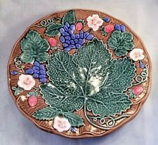 Fitz & Floyd Majolica Grape Leaf Plate 19th Century Design FEUILLE DE RAISIN 9""