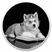 Husky Dog Sticker for Bumper Truck Laptop Luggage Suitcase Tablet #01