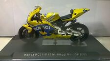 IXO 1:24 MOTO DIE CAST GIA' MONTATA HONDA RC211V MAX BIAGGI MOTO GP 2003 RAB057