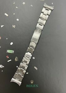 "Rolex Date Men's Oyster 7205 (CROWN) Bracelet 19mm S/S Band ""60"" Ends 6694"