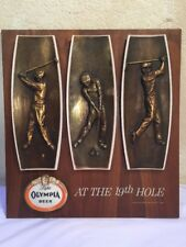 Very Rare 1964 Olympia Light Wooden Beer Sign At The 19th Hole Golf