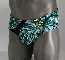 MENS GREEN LEAF SWIM BRIEF LARGE $68.00