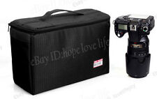 Waterproof DSLR Camera Bag Insert Padded Partition Lens Pouch Cover Case S M L N Large 2 -black