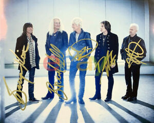 REO SPEEDWAGON FULL BAND SIGNED 8x10 PHOTO AUTOGRAPHED KEVIN CRONIN RARE reprint