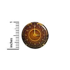 "Button Pin Steampunk Gears Clock Dieselpunk Backpack Book Bag Pinback 1"" #11-10"