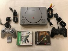 Sony PlayStation Console PS1 w/Final Fantasy VII & Tomb Raider w/2 Controllers
