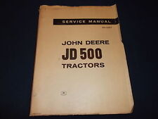John Deere Jd-500 Tractor Technical Service Shop Repair Manual Book Sm-2057