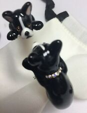 KATE SPADE Ma Chérie Antoine French Bulldog Hinged Cuff Bracelet w/ KS Dust Bag