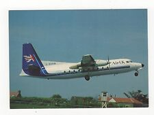 Air UK Fokker F27 mk200 Aviation Postcard, A997