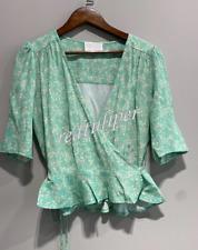 Rouje 2021 printed waist tie elegant shirt blouse women