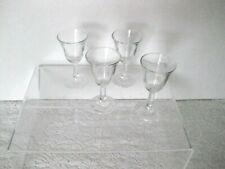 set 4 Aperitif Cordial Liqueur Glasses Vtg. Clear Colorless 1940s Depression er
