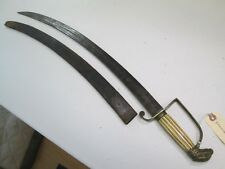 Us War Of 1812 Officers Sword Eagle Head Pommle With Scabbard #L317