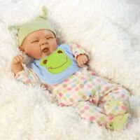 Paradise Galleries Reborn Boy Baby Doll, Sleepy Frog, 20 inch Weighted Baby