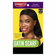 """Red by Kiss Satin Scarf Square Shape Frat 30"""" X30"""" Black Color Hsf01"""