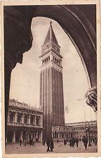 VENEZIA PIAZZA SAN MARCO E CAMPANILE VIAGGIATA 1935 ANNULLO PUBBLICITARIO