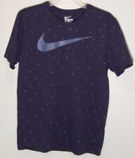 The Nike Tee Dri-Fit Large L Basketball Polka Dots with Swoosh Blue