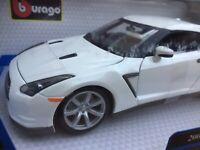 BBURAGO 12079S or 12079W NISSAN SKYLINE GT-R R35 CBA model car silver white 1:18