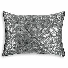 Hudson Park Collection Geometric Woven Diamond Pillow Sham - STANDARD - Gray