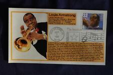 Louis Armstrong 32c Stamp FDC Bullfrog Cachet Sc#2982 06710 Jazz Musician