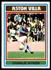 Topps Football Blue/Grey 1976 (B1) Charlie Aitken Aston Villa No. 4