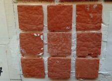 75 piastrelle 15x15mm terracotta  minuterie presepe miniature tegole crib