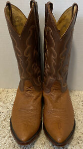 Nocona Full Quill Ostrich Skin Boots  Size 10.5 EE Made In USA
