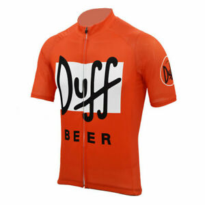 Retro Duff Beer Cycling Jersey Short Sleeve Pro Clothing Bike Maillot Vintage