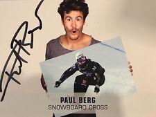 Autogramm Paul Berg Snowboard Cross mehrere Weltcup Siege handsigniert #