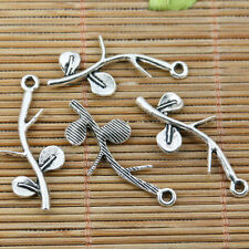 24pcs tibetan silver plated tree branch charms EF2403