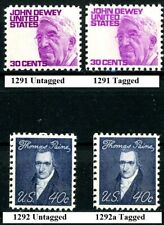Prominent Americans Variety Set 4 Dewey & Paine MNH Scotts 1291 1291a 1292 1292a