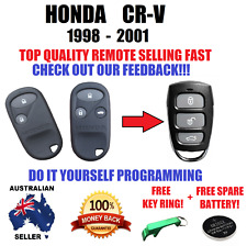 HONDA CRV CR-V REMOTE CONTROL KEYLESS  FOB 1998-2001 FREE BATTERY +  KEY RING