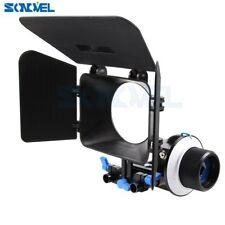 15mm Rail Rod Support+Follow Focus Finder F1+Matte Box for Canon Nikon DSLR DV