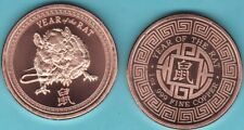 2020   YEAR OF THE RAT   1 oz. Copper Round Coin  PROVIDENT MINT
