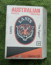 #D241. 1975 BRISBANE BRL RUGBY LEAGUE  EASTS  MATCHBOX  #38 THE TIGERS  LOGO