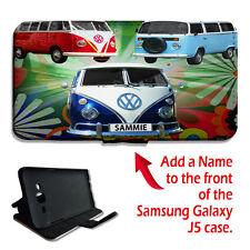 Personalizado VW Camper Camioneta Coche Clásico Samsung Galaxy J5 Abatible Billetera Teléfono Estuche