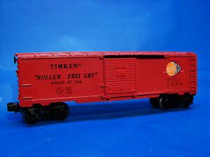 Rare 1987 Uncatalogued Lionel 6464-587 Glen Uhl Orange-Red Timken Boxcar, NOS