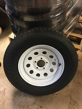 1 NEW ST 205/75D15 CARGO RADIAL TRAILER TIRE AND WHEEL 6 Ply 205-75-D15