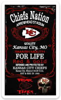 "Kansas City Chiefs ""Nation For Life""  Mini Poster Type NFL Football MAGNET"