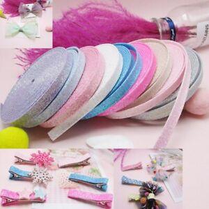 1 Yards Glitter Powder Layered Satin Ribbon Diy Hairpin Bow Accessories Sewing