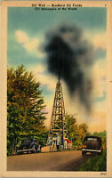 Oil well Bradford Oil Field Oil Metropolis of the World Vintage Postcard BB1