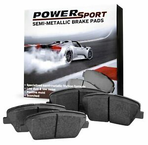 [Front Set] *POWERSPORT SEMI-MET* BRAKE PADS with RUBBERIZED SHIMS BA00132